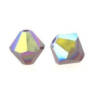 5301/5328 - 5mm Swarovski Bicone Crystal Bead - Siam AB