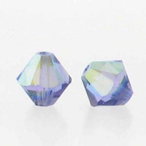 5301/5328 - 5mm Swarovski Bicone Crystal Bead - Tanzanite AB