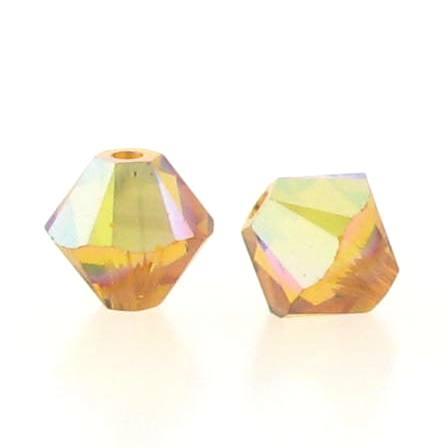 5301/5328 - 5mm Swarovski Bicone Crystal Bead - Topaz AB