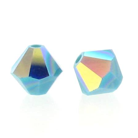 5301/5328 - 6mm Swarovski Bicone Crystal Bead - Turquoise AB