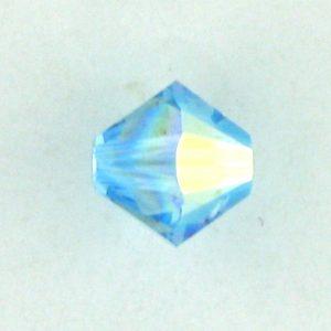 5301/5328 - 5mm Swarovski Bicone Crystal Bead - Aquamarine AB