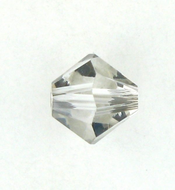 5301/5328 - 4mm Swarovski Bicone Bead - Crystal Satin