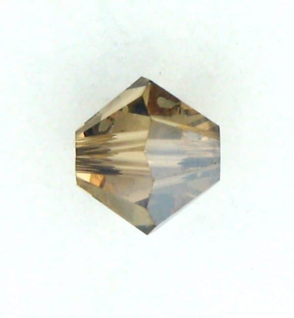 5301/5328 - 4mm Swarovski Bicone Bead - Light Colo. Topaz Satin