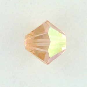 5301/5328 - 6mm Swarovski Bicone Crystal Bead - Light Peach AB