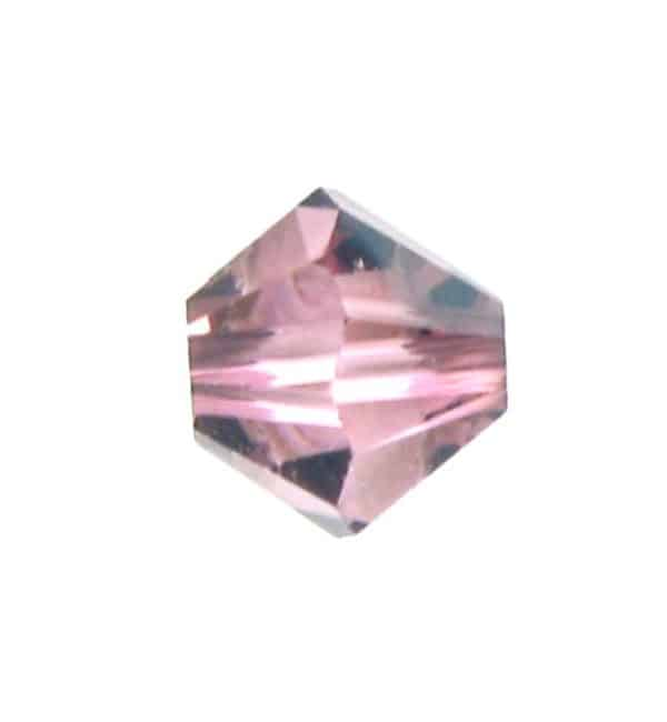 5301/5328 - 4mm Swarovski Bicone Bead - Light Rose Satin