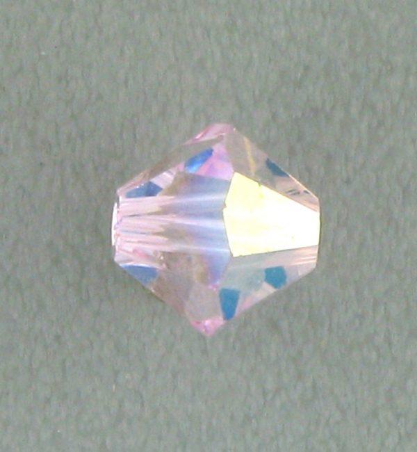 5301/5328 - 6mm Swarovski Bicone Crystal Bead - Rosaline AB