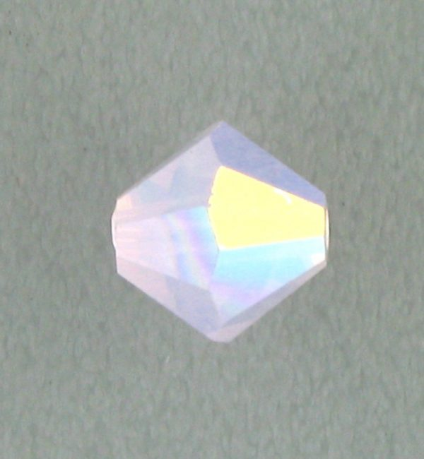 5301/5328 - 3mm Swarovski Bicone Crystal Bead - Rose Water Opal AB