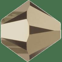 5301/5328 - 6mm Swarovski Bicone Crystal Bead - Metalic Light Gold AB2X