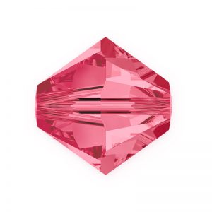 5301/5328 - 3mm Swarovski Bicone Crystal Bead - Indian Pink