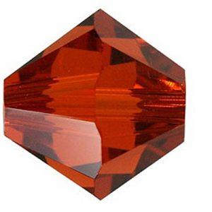 5301/5328 - 5mm Swarovski Bicone Crystal Bead - Indian Red