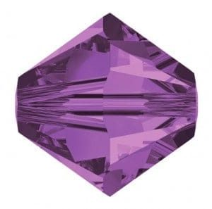 5301/5328 - 5mm Swarovski Bicone Crystal Bead - Lilac
