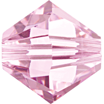 5301/5328 - 3mm Swarovski Bicone Crystal Bead - Rosaline