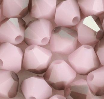 5301/5328 - 4mm Swarovski Bicone Bead - Rose Alabaster Satin