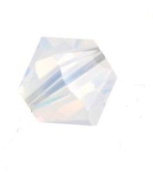 5301/5328 - 6mm Swarovski Bicone Crystal Bead - White Opal AB