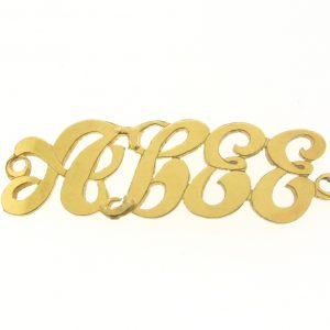 # 9773 - 14K Gold Filled Name Plate For Bracelet - Abee