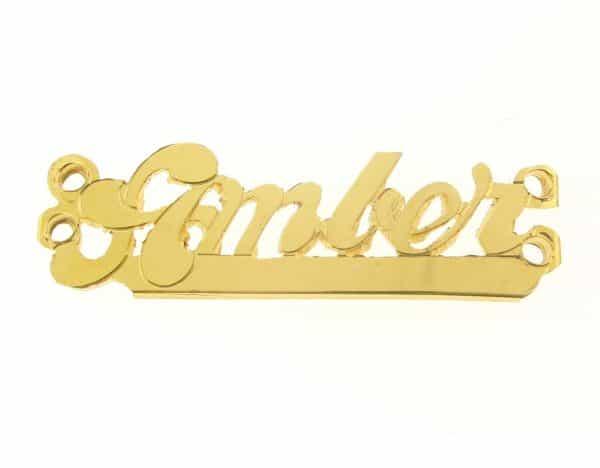 # 9781 - 14K Gold Filled Name Plate For Bracelet - Amber