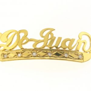 # 9778 - 14K Gold Filled Name Plate For Bracelet - DeJuan