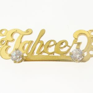 # 9782 - 14K Gold Filled Name Plate For Bracelet - Jaheer