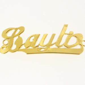 # 9775 - 14K Gold Filled Name Plate For Bracelet - Layla