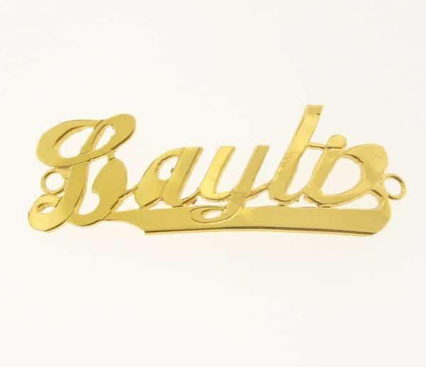 # 9775 - 14K Gold Filled Name Plate For Bracelet - Layla