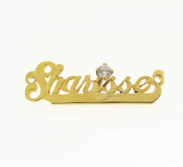 # 9776 - 14K Gold Filled Name Plate For Bracelet - Sharisse