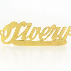 # 9777 - 14K Gold Filled Name Plate For Bracelet - Vivery