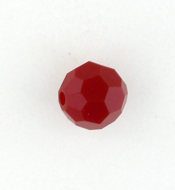 5000 - 4mm Swarovski Round Crystal - Dark Red Coral