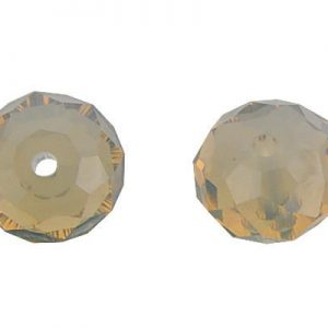 5040 - 6mm Swarovski Briolette Beads - Light Grey Opal