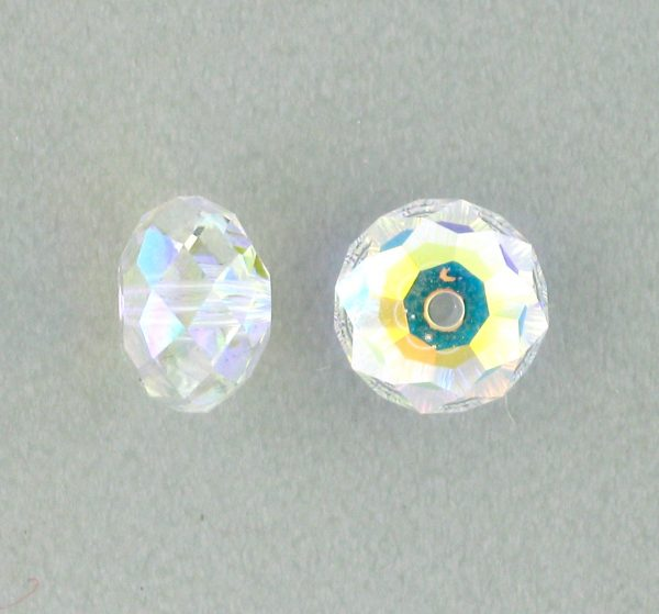 5040 - 6mm Swarovski Briolette Beads - Crystal AB