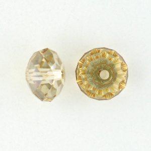 5040 - 6mm Swarovski Briolette Beads - Golden Shadow