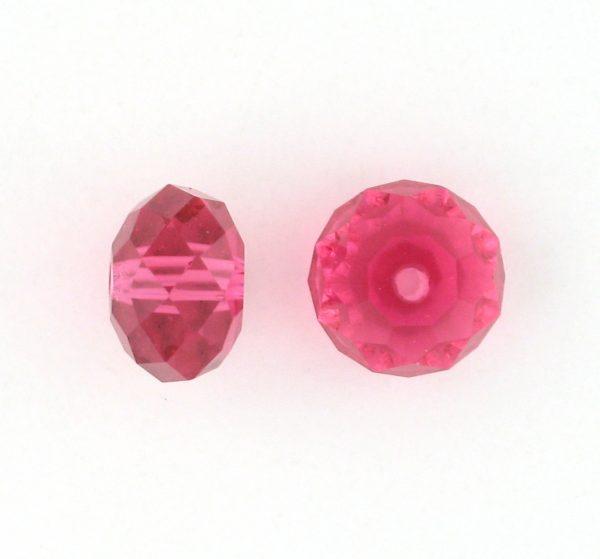 5040 - 8mm Swarovski Briolette Beads - Indian Pink