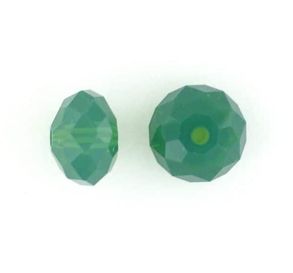 5040 - 8mm Swarovski Briolette Beads - Palace Green Opal