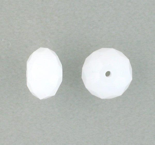 5040 - 8mm Swarovski Briolette Beads - White Alabaster