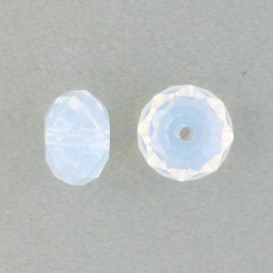 5040 - 8mm Swarovski Briolette Beads - White Opal