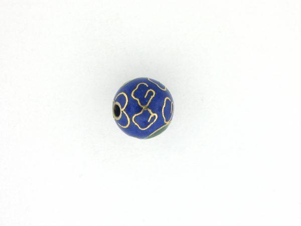 6018C - 18mm Round Cloisonne Bead - Blue