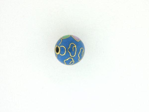 6010C - 10mm Round Cloisonne Bead - Light Blue