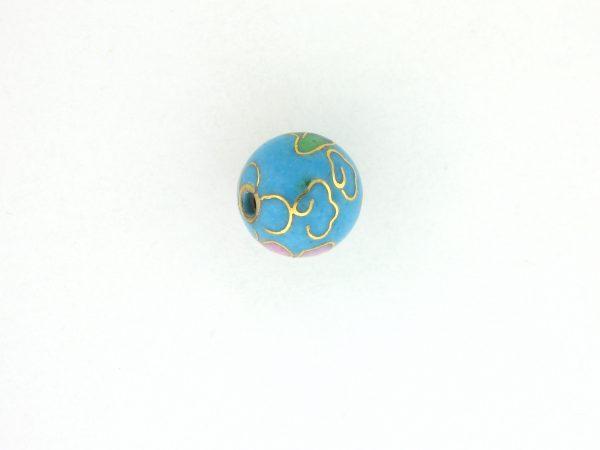 6010C - 10mm Round Cloisonne Bead - Turquoise
