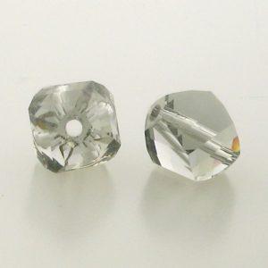 5020 - 10mm Swarovski Helix Beads - Black Diamond