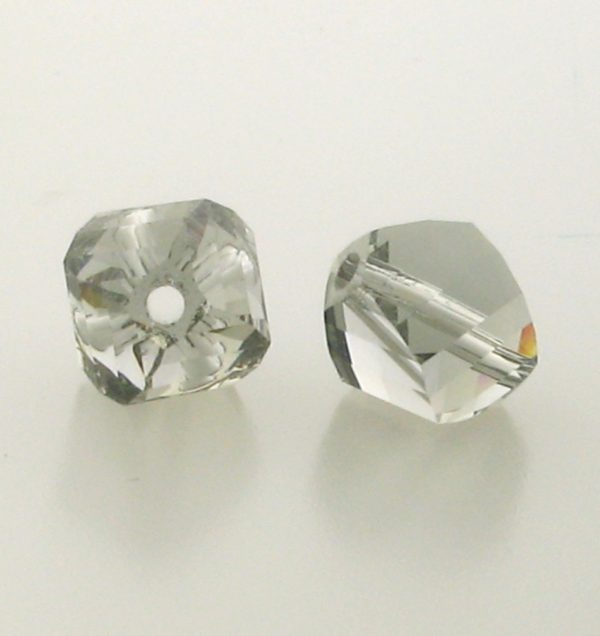 5020 - 10mm Swarovski Helix Beads - Black Diamond