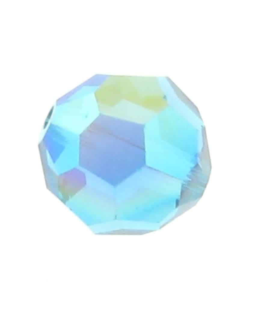b1660783a6c93 5000 - 6mm Swarovski Round Crystal Bead - Blue Zircon AB