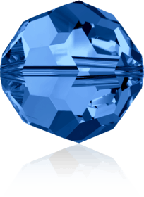 5000 - 6mm Swarovski Round Crystal Bead - Capri Blue