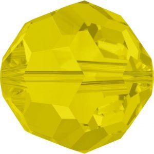 5000 - 6mm Swarovski Round Crystal Bead - CItrine