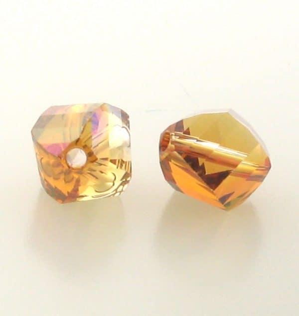 5020 - 10mm Swarovski Helix Beads - Crystal Copper