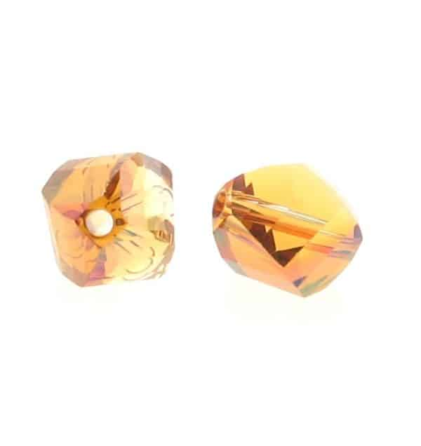5020 - 6mm Swarovski Helix Beads - Crystal Copper
