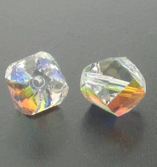 5020 - 8mm Swarovski Helix Beads - Crystal AB