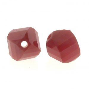 5020 - 8mm Swarovski Helix Beads - Dark Red Coral