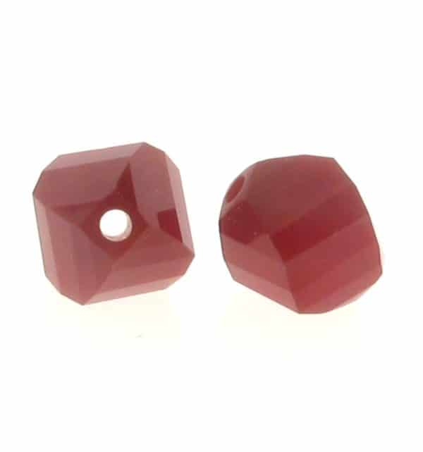 5020 - 6mm Swarovski Helix Beads - Dark Red Coral