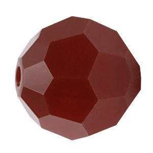 5000 - 6mm Swarovski Round Crystal Bead - Dark Red Coral