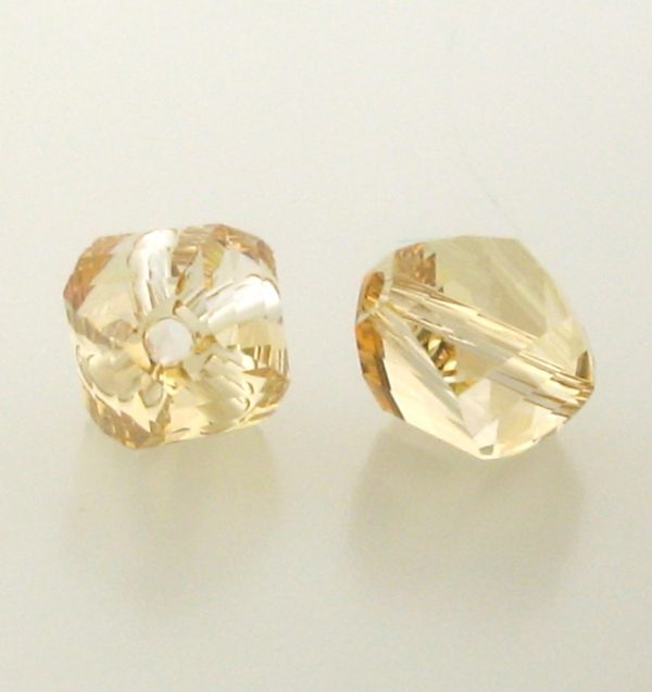 5020 - 8mm Swarovski Helix Beads - Golden Shadow