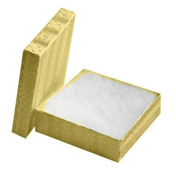 "11093 - Cotton Filled Jewelry Gift Box 3.5""x 3.5""x 1"""